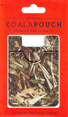 Camo Koala Pouch - Phone Card Holder, Stick On Wallet (Hunting)
