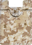 Camo Koala Pouch - Phone Card Holder, Stick On Wallet (Brown)