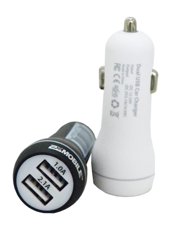Car Charger to Dual 2.1 Amp USB 2xMobile