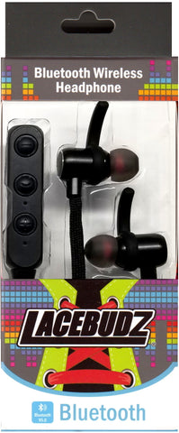 Bluetooth Wireless Lacebudz Earphone - Black Color