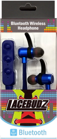 Bluetooth Wireless Lacebudz Earphone - Blue Color