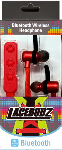 Bluetooth Wireless Lacebudz Earphone - Red Color