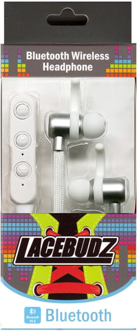 Bluetooth Wireless Lacebudz Earphone - White Color
