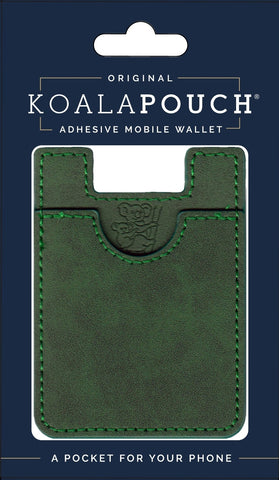 Leather Style Koala Pouch - Phone Card Holder, Stick On Wallet (Jade)