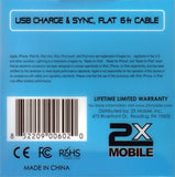2xMobile Niki 6ft Apple 30 pin Charge/Sync Cable back