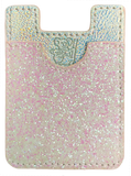 Glitter Koala Pouch - Phone Card Holder, Stick On Wallet (White)