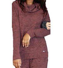 Load image into Gallery viewer, Hello Mello Maroon Lounge Cowl Neck Top & Pants