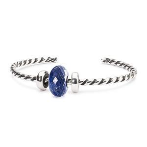 Lapis Lazuli Twisted Bangle Set