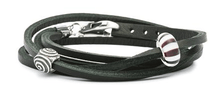Load image into Gallery viewer, Leather Bracelet, Black