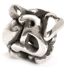 Load image into Gallery viewer, Letter Bead B, Silver