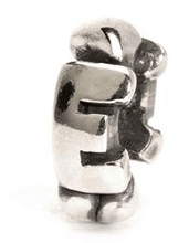 Load image into Gallery viewer, Letter Bead E, Silver