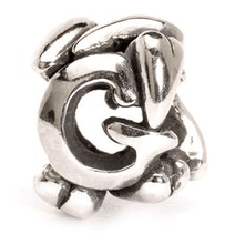 Load image into Gallery viewer, Letter Bead G, Silver