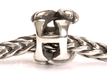 Load image into Gallery viewer, Letter Bead H, Silver