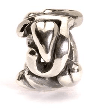 Load image into Gallery viewer, Letter Bead J, Silver