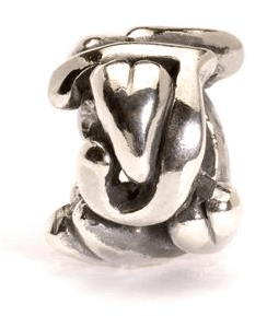 Letter Bead J, Silver