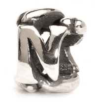 Load image into Gallery viewer, Letter Bead N, Silver