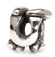 Load image into Gallery viewer, Letter Bead U, Silver