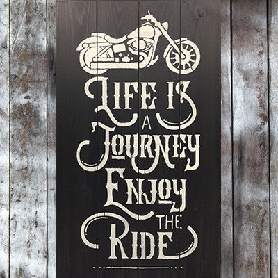 Life Is A Journey Pallet Sign