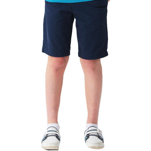 LEO&LILY Boys Kids Elastic Waist Casual Fine Cotton Chino Shorts LLB1058