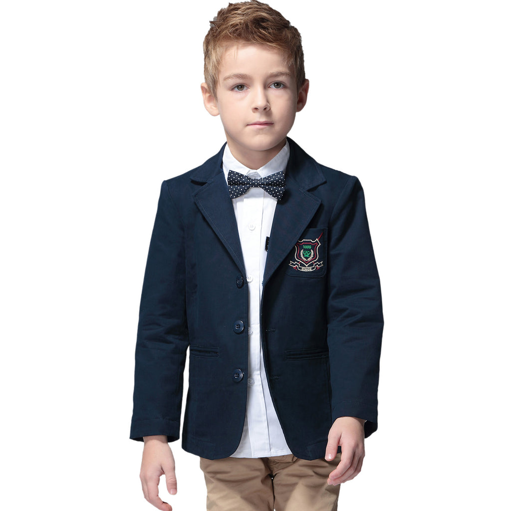 LEO&LILY Boys Kids 100% Cotton Blazers Jackets Coats With Lining LLB1103