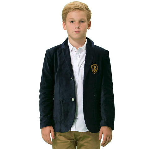 LEO&LILY boys Kids Cotton Fine Velvet Blazers Jackets With Lining LLB1125