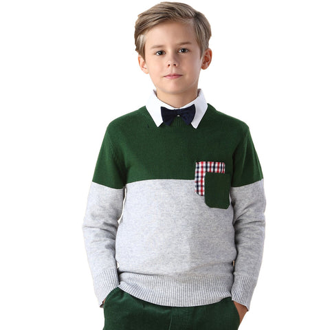 LEO&LILY Boys Kids Wool Blends Casual Classic Sweater Pullover LLB1241
