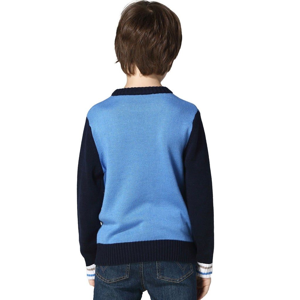 Leo/&Lily Boys Wool Blends Casual Dobby Sweater Pullover Jacquard