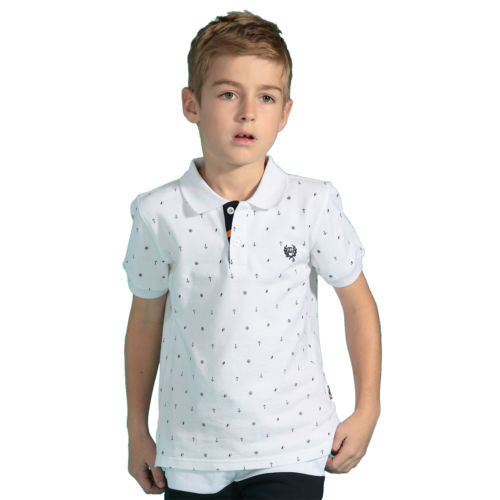 LEO&LILY Boys Anchor Printed T-Shirt Kids T-shirts LLB9405
