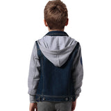 LEO&LILY Boys Denim Jackets Blazers Fleece Sleeves Hoods LLB1335