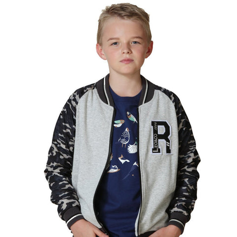 LEO&LILY Little Boys Long Camouflage Sleeve Basic Jacket Outwear Coat LLB1344