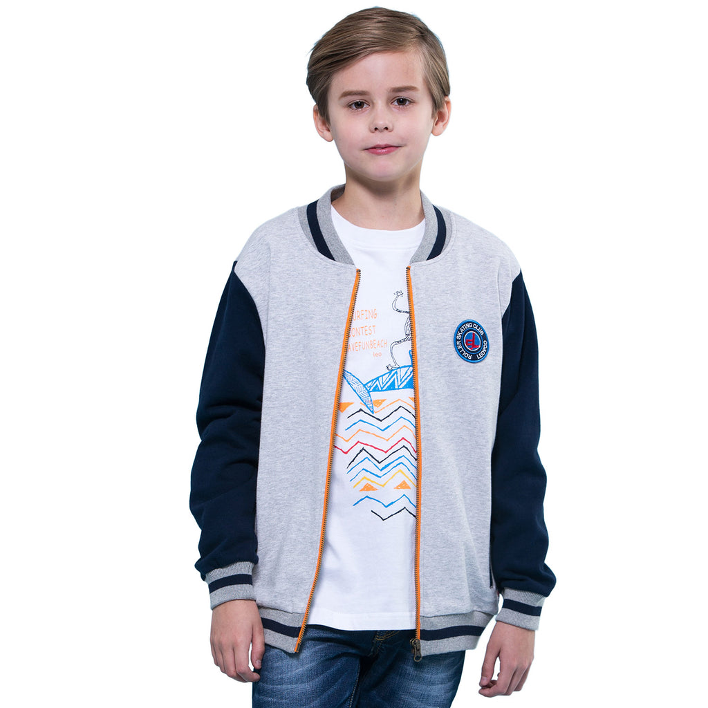 LEO&LILY Boys Casual Sport Baseball Jacket Blazer Sweatshirts Top LLB1348