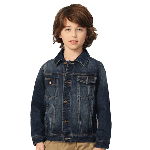 LEO&LILY Boys Denim Jackets Blazers Fleece Sleeves Hoods LLB13A1