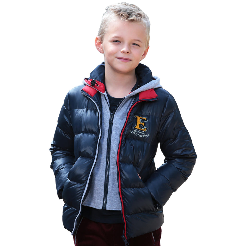 LEO&LILY Little Boys Winter Padded Puffer Down Jacket Outwear Coat  LLB1719