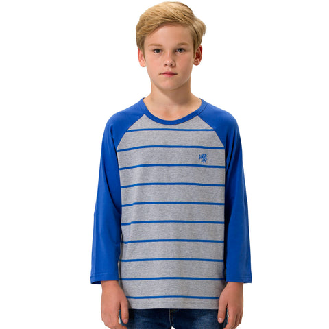 LEO&LILY boys Long Sleeves Crew-Neck Raglan Pullover T-Shirt LLB3602