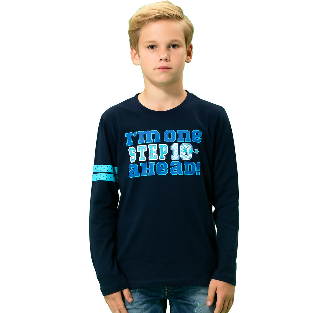 LEO&LILYBoys Long Sleeve Crew-Neck Pullover T-Shirt LLB3901