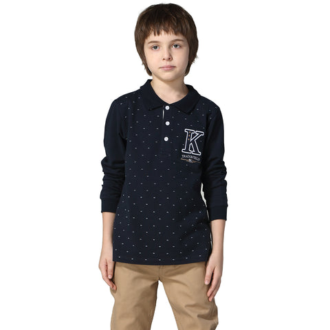 LEO&LILY Boys Long Sleeves Print Polo Shirts T-Shirt LLB3706