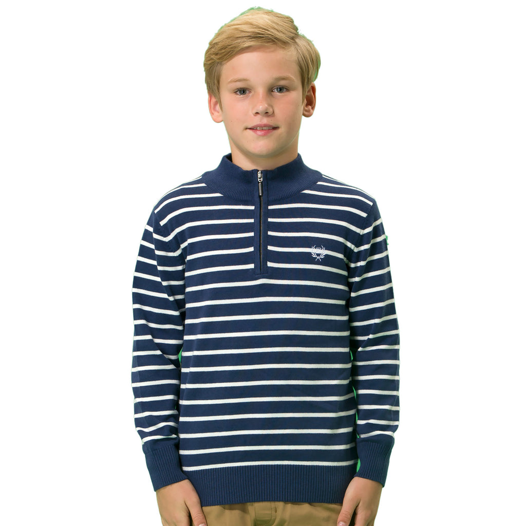LEO&LILY boys Wool Blends Casual Pullover Zipper Front Sweater LLB1266