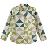 LEO&LILY Big Boys Fashion casual England Classic fine poplin print check woven shirts LLB262