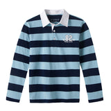 LEO&LILY boys Kids Casual Stripes Cardigan Polo Shirts LLB3103
