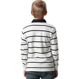 LEO&LILY  Boys Casual Dressing Yarns Dyed Striped Rugby Polo Shirts LLB3528