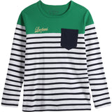 LEO&LILY Boys Long Sleeves Crew-Neck Stripes Pullover T-Shirt LLB3601