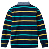 LEO&LILY Boys Long Sleeves Striped Cardigan Rugby Polo Shirt LLB3B08