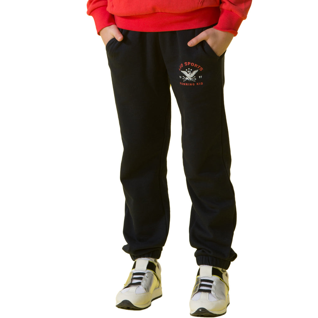 LEO&LILY Boys Sports Husky Waist Pants Joggers Trousers Active-pant LLB487