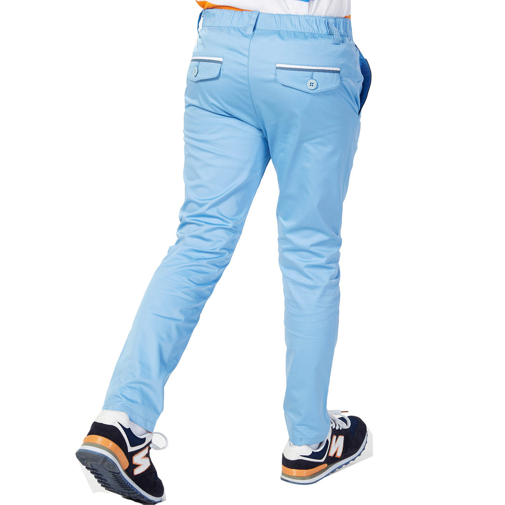 LEO&LILY Big Boys Regular Fit Elastic Waist Stretch Casual Pants LLB498