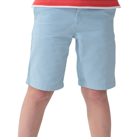 LEO&LILY Boys Kids Elastic Waist Casual Fine Cotton Chino Shorts LLB571