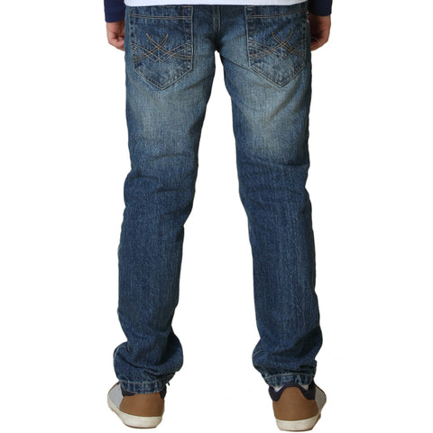 LEO&LILY Big Boys Kids Husky Waist Denim Regular Fit Jeans Pants LLB628