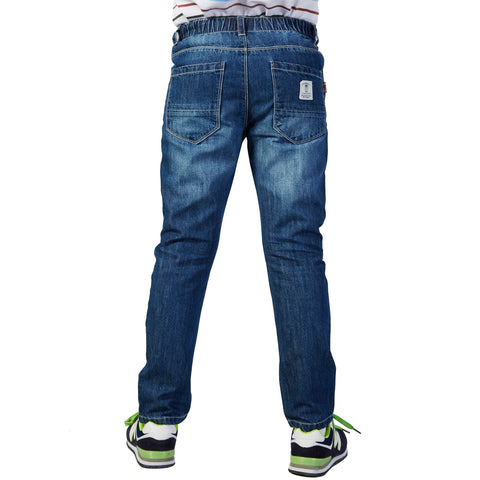 LEO&LILY Boys Husky Waist Regular Fit Thin Jeans Pants Trousers LLB632