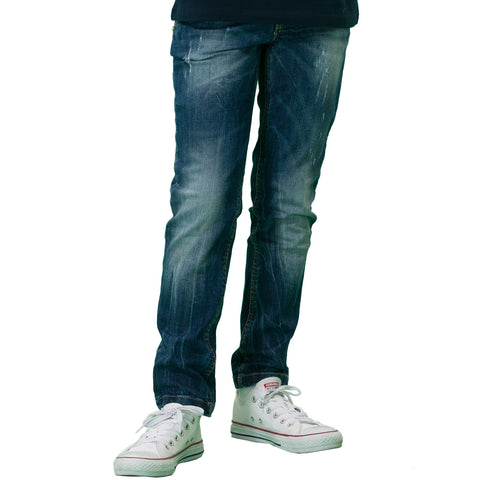 LEO&LILY Big Boys Kids Denim Regular Fit Waist Jeans LLB653