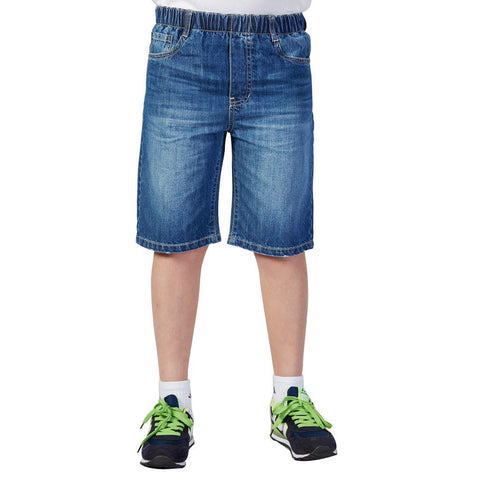 LEO&LILY Boys Denim Regular Fit Husky Waist Shorts Jeans Pants Trousers LLB785