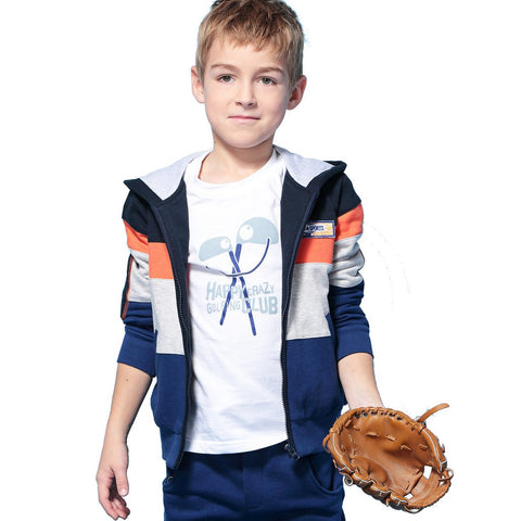 LEO&LILY Big Boys Fleece Zipper Tracksuit Hoodie W Pants Set LLB846